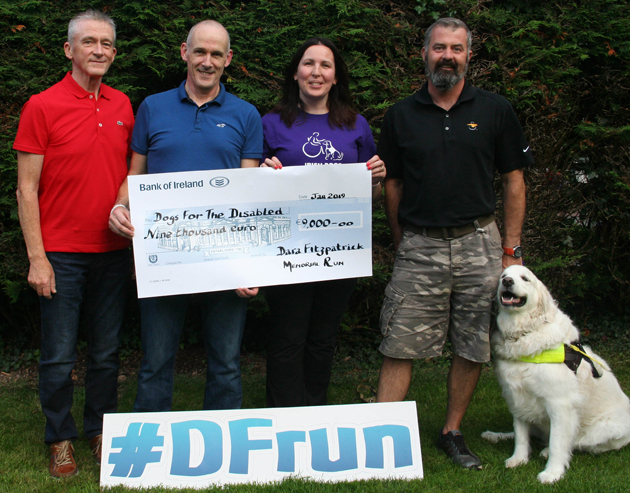 Dara Fitzpatrick Memorial Run Dogs for the Disabled cheque web