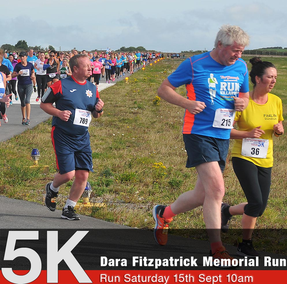 Dara Fitzpatrick Memorial Run Saturday 15th September 2018 s