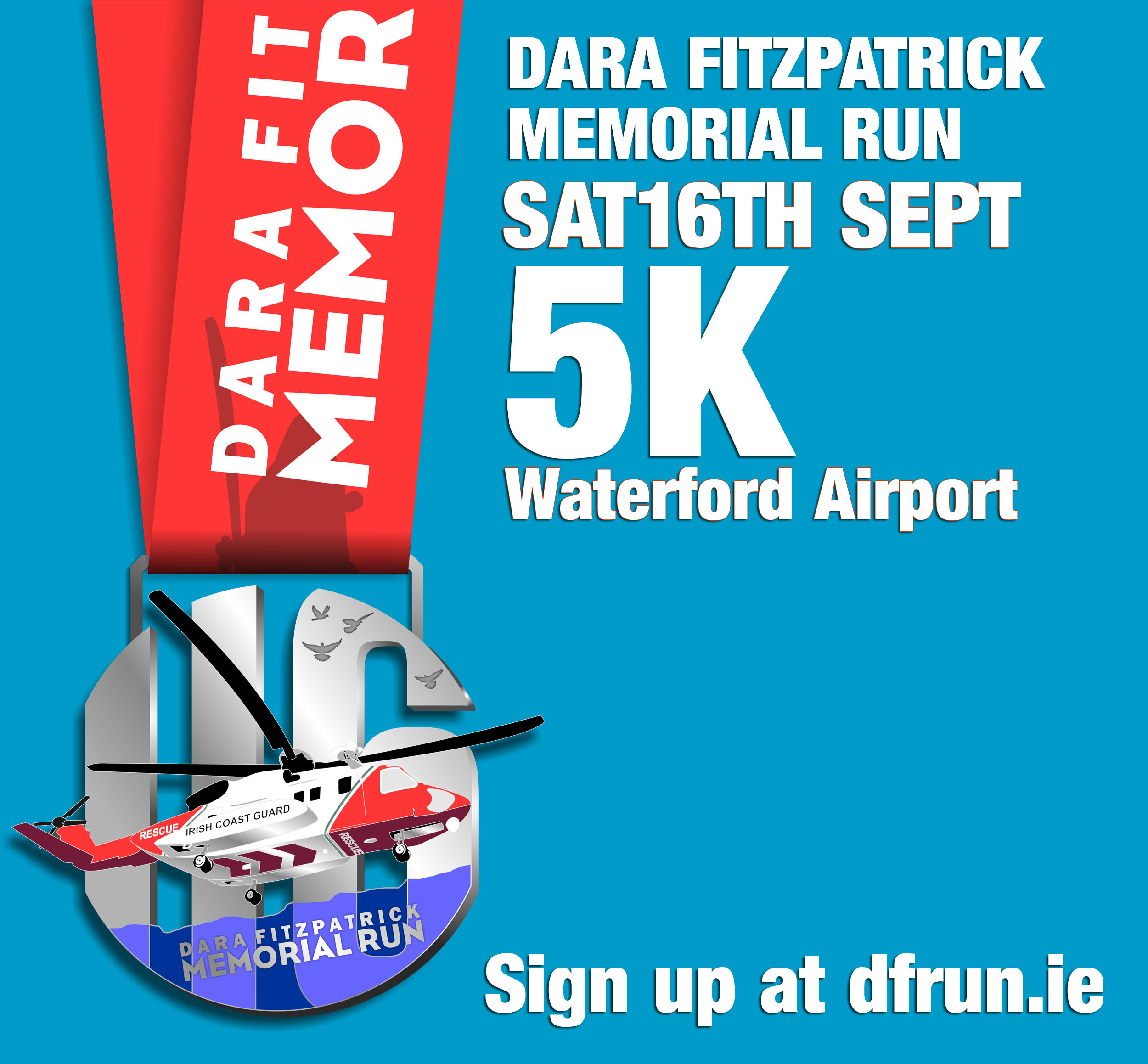 Finishers medal for The Dara Fitzpatrick Memorial Run