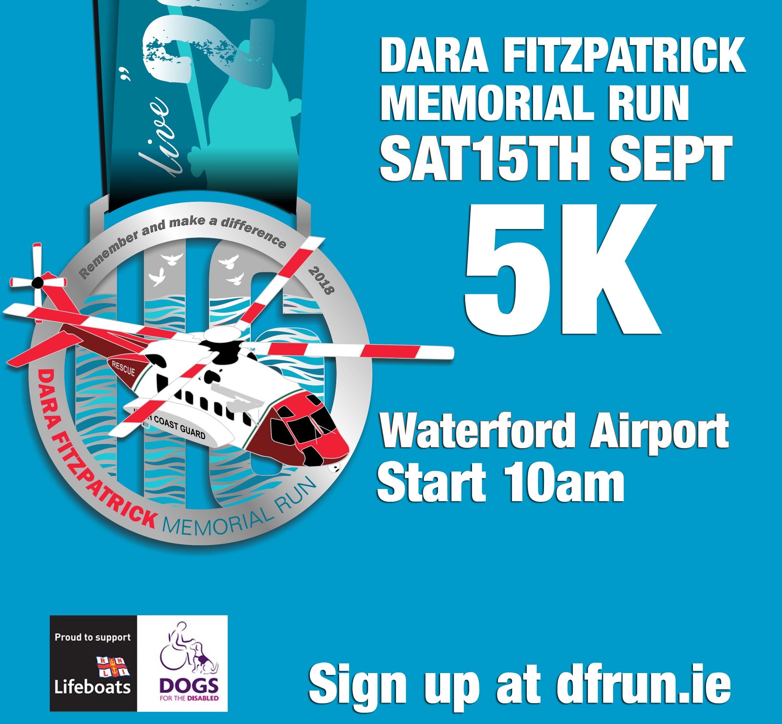 Finishers medal for The Dara Fitzpatrick Memorial Run 2018