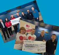 dfrun present 18k to two charities 2017 run